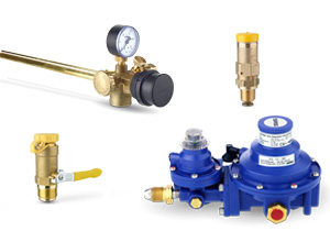 Rotarex SRG offers filling valves, polyvalves, propane regulators, propane level gauges, check valves, safety valves & more.